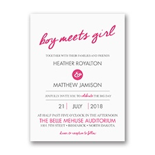 Chance Meeting Petite Wedding Invitation
