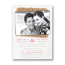 Cute & Casual Petite Wedding Invitation