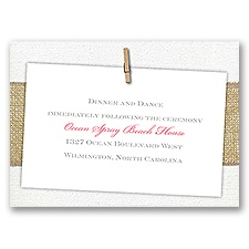 Cute & Casual - Reception Card