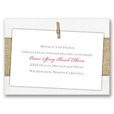 Cute & Casual - Reception Card