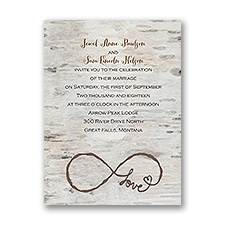 Love for Infinity Petite Rustic Wedding Invitation