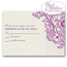 Vivid Vines - Real Glitter Response Card