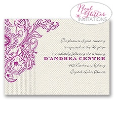 Vivid Vines - Real Glitter Reception Card