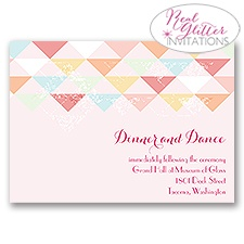 Geo Glow - Real Glitter Reception Card