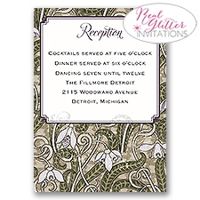 Vintage View - Real Glitter Reception Card