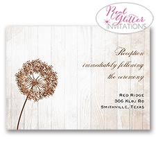 Dandelion Shimmer - Real Glitter Reception Card