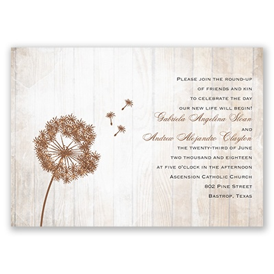 dandelion shimmer real glitter wedding invitations at invitations by
