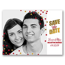 Confetti Corners Holiday Card Save the Date