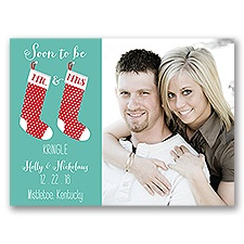 New Stockings - Holiday Card Save the Date