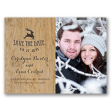 Reindeer Prance Holiday Card Save the Date