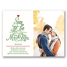 Top the Tree Holiday Card Photo Save the Date