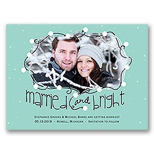 String of Lights Holiday Card Save the Date