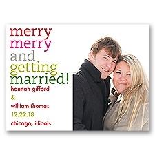Merry Merry Holiday Card Modern Save the Date