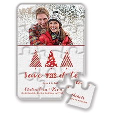 Mod Trees - Holiday Save the Date Puzzle