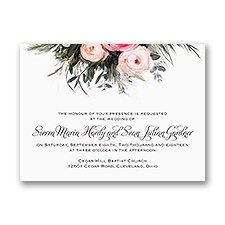 Ethereal Garden Petite Pink Wedding Invitation