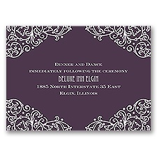 Henna Monogram - Reception Card