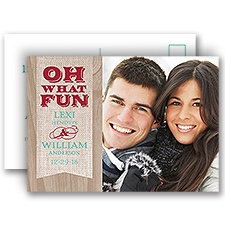 Rustic Fun Holiday Postcard Photo Save the Date