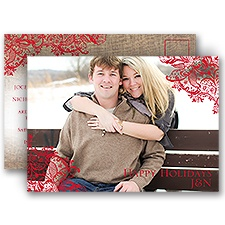 Pretty Poinsettias Holiday Postcard Save the Date