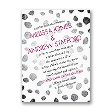 Spotted Details Petite Wedding Invitation