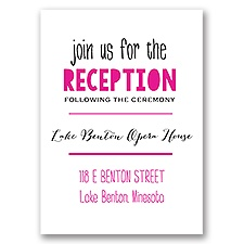 Modern Style - Reception Card