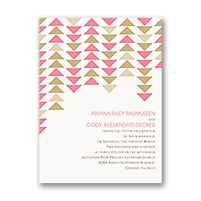 Contempo  Petite Wedding Invitation