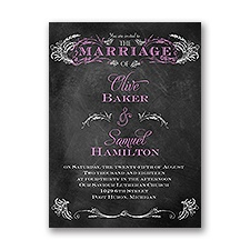 Wheat Flourish Petite Wedding Invitation