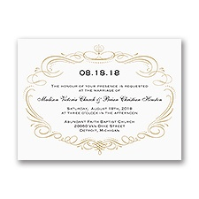 Sweet Sophistication Petite Vintage Wedding Invitation