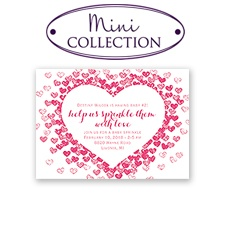 Heart Sprinkles - Mini Baby Shower Invitation
