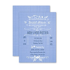 Simply Denim - Petite Bridal Shower Invitation