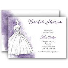 Princess Gown - Bridal Shower Invitation