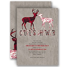 Buck and Doe - Wedding Shower Invitation