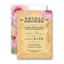 Watercolor Beauty - Petite Bridal Shower Invitation