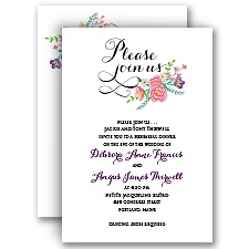 Floral Typography - Rehearsal Dinner Invitation