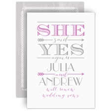Cupid Strikes Again - Vow Renewal Invitation