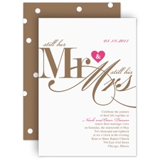 Still Together - Vow Renewal Invitation