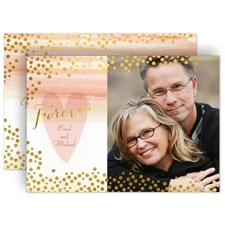 Watercolor and Gold - Vow Renewal Invitation