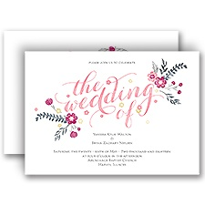 Heart and Whimsy Wedding Invitation