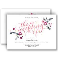 Heart and Whimsy Wedding Invitation