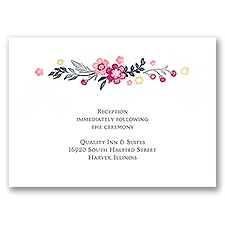 Heart and Whimsy - Reception Card