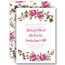 Floral Beauty Vintage Wedding Invitation