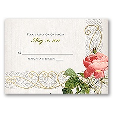 Boho Beauty - Gold - Foil Response Card