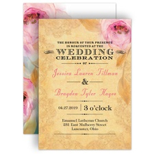 Watercolor Beauty Wedding Invitation