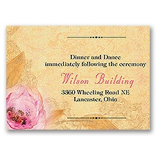 Watercolor Beauty - Reception Card