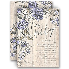 Rustic Rose Rustic Wedding Invitation