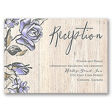 Rustic Rose - Reception Card