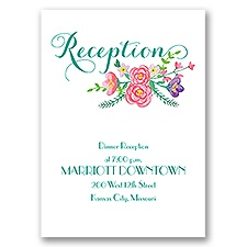 Floral Typography - Reception Card