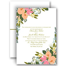 Heavenly Florals Wedding Invitation