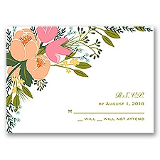 Heavenly Florals - Response Card