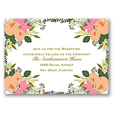Heavenly Florals - Reception Card