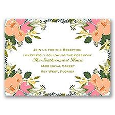 Heavenly Florals - Reception Card
